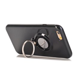 Wholesale Transparent Car Cover - Soft TPU Cell Phone Case for iPhone 6 7 Back Cover with Ring Phone Holder Car Mount