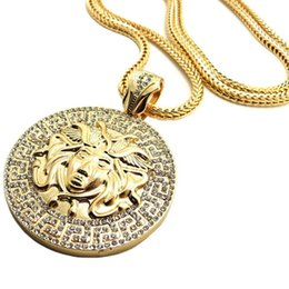 Wholesale Europe Style Necklaces - wholesale hot jewelry HIPHOP necklace high quality alloy Medusa head pendant Europe and America Style necklace