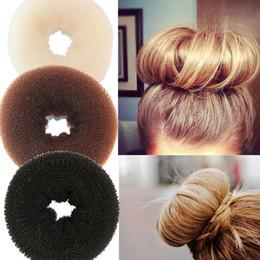 2019 bandeau oreilles de chat rouge Nouveau Mode Femmes Lady Magic Shaper Donut Anneau de Cheveux Chignon Accessoires Styling Outil Cheveux Accessoires livraison gratuite