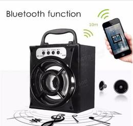 мс яблоко Скидка 2017 новый светодиодный мобильный мультимедийный Беспроводной Bluetooth портативный динамик с USB TF AUX FM-радио MS-132BT открытый супер бас для Android Apple