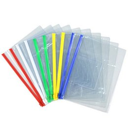 Wholesale A5 Folders - New 20pcs File Bag Stationery Clear Plastic Bag Translucent Folder A4 A5 A6 Size Document Bag File Folder School Office Supply Free Shipping