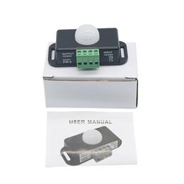 2019 12 вольт светодиодные фонари 12V 24V Mini PIR Датчик движения Переключатель для светодиодной ленты Ruban Light Tape SMD 5050 3528 Инфракрасное обнаружение 6A 12 Вольт 24 Вольт скидка 12 вольт светодиодные фонари