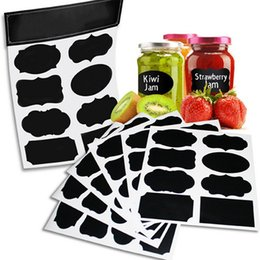 Wholesale White Chalkboard Markers - Various Shapes Blackboard Chalk Sticker Labels Chalkboard Reusable Big White Liquid Marker for Labeling Jars, Parties, Rooms