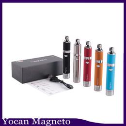 Bocaux métalliques en Ligne-Magneto Kit 1100mAh Batterie Capuchon De Bobine Magnétique Cuvette En Silicone Intégré Céramique Bobine Cire Vapor Pen VS évoluer plus 0268036-1