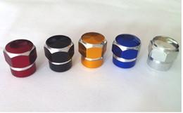 Wholesale Alloy Valve Caps - 4pcs lot Agate Aluminum Tire Valve Caps for Car Bike Motorcycle Alloy Tyre Valve Stem Covers for US Valves Car-styling Parts