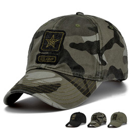 Wholesale Camo Hats Caps - US Army Cap Camo Baseball Cap Men Camouflage Baseball Hats Snapback Bone Masculino Trucker Cap Pentagram Dad Hat