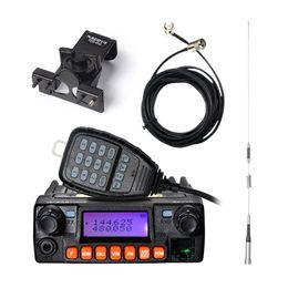 Wholesale Uhf Way Radio Mobile - Wholesale- Zastone MP320 20W Mobile Radio Car Walkie Talkie VHF UHF 136-174MHz 400-480MHZ 240-260MHz ZT-MP320 FM Radio Transceiver Station
