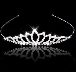 Wholesale Rhinestone Bridal Hairband - Wedding Accessory Women Party Pageant Crystal Bridal Tiara Silver Plated Crown Hairband 2017