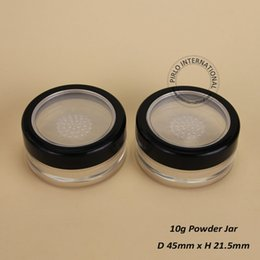 Wholesale Plastic Sifter Jars - 50pcs lot Promotion 100% excellent 10g Plastic Cosmetic Jar Empty Loose Powder Vial With Sifter Portable Travel Container