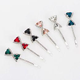 Nuovo modo di design strass farfalla opalina sei colori Trendy di cristallo Hairwear per le donne regalo trasporto libero H006 da
