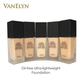 Wholesale Felt Types - Hot Sale Foundation Makeup All Day Luminous Weightless Oil-free Silky Feel Foundation For All Skin Types Retail Drop Shipping Free Shipping