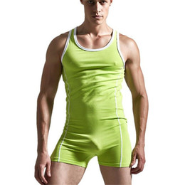 Wholesale Yellow Body Suit - Wholesale- Men's Bodysuit,Man Body Suits Sexy Man Bodywear, Men's Cotton Tank Top Singlets