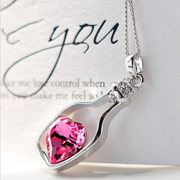 Wholesale Celtic Moon Pendant - Wholesale-2016 Brand Silver Color Jewelry Fashion Moon Statement Necklace Glass Galaxy Collares Necklace Pendants Maxi Necklace for Women