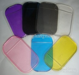 Bloco de carro pegajoso para mp3 on-line-50 pc carro magia pegajosa pad anti-derrapante tapete antiderrapante para o telefone móvel mp3 mp4 mix cores # 50