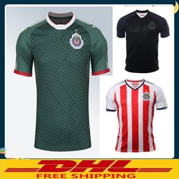 Wholesale Wholesale El Shirts - DHL Free shipping 2017 2018 Mexico Club Chivas de Guadalajara Soccer Jersey Home away 17 18 Chivas Football shirts Size can be mixed batch