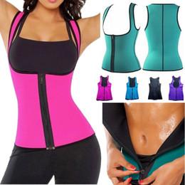 Wholesale Women Training Suits - Women Sweat 2018 Enhancing Waist Training Corset Waist Bustiers & Corsets Women's Trainer Sauna Suit Hot Shaper Sport Vest Four Colors S-XXL
