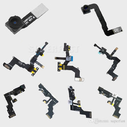 Wholesale Iphone Microphone Flex - For iPhone 4 4S 5 5C 5S 6 6 Plus 6S 6S Plus Light Proximity Sensor Flex Cable Front Facing Camera Len Microphone Assembly Free Shipping