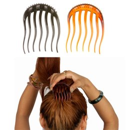 Wholesale insert tool holders - Lady Girl Hair Tools Volume Inserts Hair Clip Hairpins Bumpits Bouffant Ponytail Comb Grips Headwear Ornaments Accessories For Woman