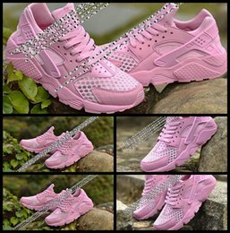 Wholesale Huaraches Basketball Shoes - 2017 New Triple Women air Huaraches sneakers original quality Training shoes Air Huarache Pink October basketball shoes