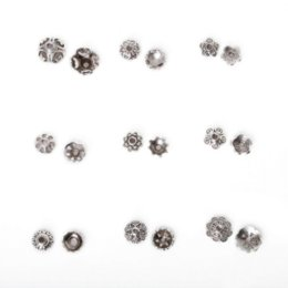 Wholesale Filigree Gold Jewelry - 334Pcs Metal Flower Bead Caps Vintage Filigree DIY Jewelry Making Findings Mixed Silver Plated Accessories components supplies