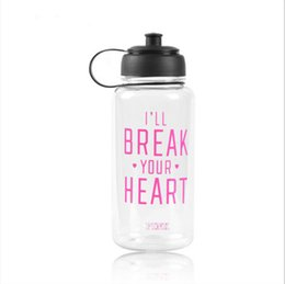 Wholesale Ml Clear - Kettle For Travel 1000 ML Portable Clear PINK Bottle Sport Bicycle Fruit Lemon Juice Water Cup.Big capacity Sports Water Bottles