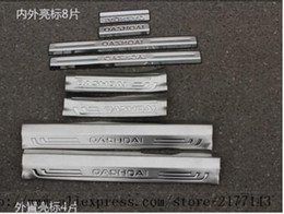 Wholesale Door Pedal - Stainless steel Door Sill Scuff Plate Thresholds Pad Tread Plate Welcome Pedal Protector trim For Nissan Qashqai 2014 2015 2016