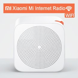 Wholesale Button Cell Battery Pack - Wholesale-Newest Original Mi Xiaomi Internet Radio Connect with WiFi 2.4G B g n Button Built In Speaker for iPad Tablet Smart Cell Phone