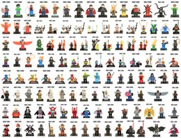 Wholesale Blocks Figures - 500pcs lot Individually Single Sale Marvel Super Heroes Bricks avengers superman hulk Building Blocks Model Bricks Toys figures
