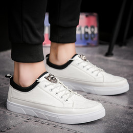 Wholesale Round Board - Super Hot Men's Fashion Casual Board Shoes Black White Leather Low Skate Sport Sursider Shoes Free Shipping YonDream-455