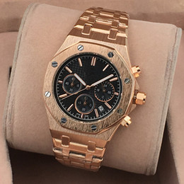 Wholesale Top Hot Selling Dresses - 2016 New Fashion brand Watch Gold Color Mens Watches casual Top Brand Luxury Hot Selling men Watch Steel Dress Watches