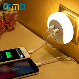led usb lamp mobile charger prices - Wholesale- Novelty LED Night Light with 2 USB Port for Mobile Phone Charger Light Sensor Atmosphere Lamp For Bedroom Living Room Warm Whi