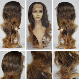 Wholesale Gold Lace Wig - Glueless Long Wavy gold color Synthetic Lace Front Wig Heat Resistant Natural Hairline Hair Wigs For Women