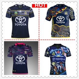 Wholesale Black Cowboy Shirt - Hot sales Australia COWBOY NRL National Rugby League North Queensland cow new nrl jersey Rugby Shirts