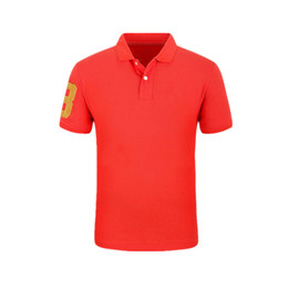 Wholesale Cool American Brands - New 2018 Summer Men Polo Shirts Short Sleeve Cool Cotton Slim Fit Casual Business Men Shirts Luxury Brand Size S-2XL