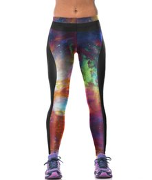 Wholesale Galaxy Tights Free Ship - galaxy SKY 3D printed yoga wear pants free shipping leggings tight panties for womens Leggings training pants free size sweatpants