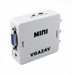 Wholesale Digital Hd Converter - High Quality HD 1080P Digital VGA to AV + CVBS Converter with audio input for PC laptop to TV