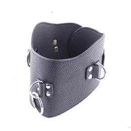 Wholesale Leather Collar For Sex Slave - Best Quality Restraint BDSM Slave Posture Collar Bondage No Bow Leather Collar for Sex Slave Adult Sex Toys