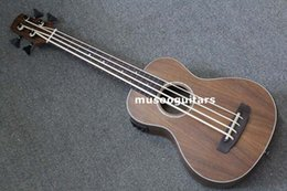 "Wholesale Hollow Bass Guitars - 30"" Concert Ukulele Bass Mini Acoustic Uke Handcraft Solid Acacia Wood"