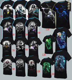 Wholesale El Glow T Shirt - 2016 Mens 3D Glow In The Dark Luminous T Shirt League of legends Men Printed Short Sleeve 2016 Summer Men Clothes