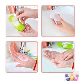 Wholesale Foaming Hand Cleaner - Wholesale-NEW Creative Portable Paper Soap Washing Hand Bath Slice Sheets Scented Foaming