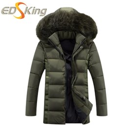 Wholesale Parkas Chaqueta - Wholesale- Autumn Winter 2016 Men Fashion Parka Casual Mens Winter Jackets Hooede Chaqueta De Invierno De Los Hombres Veste Homme