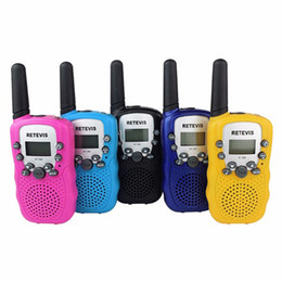 Wholesale Mini Radio Walkie Talkie - 2 pcs Retevis RT-388 PMR446 License Free Mini Walkie Talkie 0.5W UHF Two Way Radios VOX Small Radio