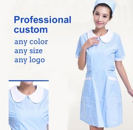 Wholesale Winter Nursing Clothes - Brand nurse clothes summer hot sales anti-static beauty clothes breathable comfortable drugstore work clothes free shipping
