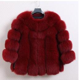Wholesale Knit Mink Fur Coat - Fur faux fur coat mink hair rex rabbit hair cape jacket black and white fur overcoat imitation rabbit free shipping