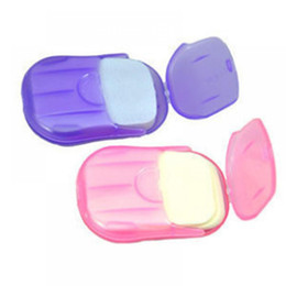 Wholesale Paper Bath - Convenient Washing Hand Bath Travel Scented Slice Sheets Foaming Box Paper Soap wholesale