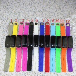Wholesale Children Candy Bracelet Watch - color mode of silica gel candy LED digital watch bracelet second - generation children 's personality running watch