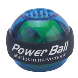 Wholesale Wrist Power Exercise - 2017 New High Quality Gyroscope Power Ball Wrist Arm Exercise Strengthener LED Force Ball Fitness Weight Loss Gym F985