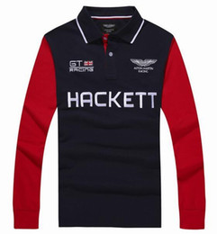 Wholesale Racing Business - Discount Winter London Hackett Mens Polo Shirts Casual Cotton Long Sleeve HKT GT Racing POLO Shirt Summer Business Men Polos Tops