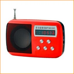 Wholesale Age Building - Wholesale-New Fashion Portable Mini FM Radio Speaker The Aged Best Mini Digital FM Radio MP3 With USB SD Card Built-in Speaker WS-822