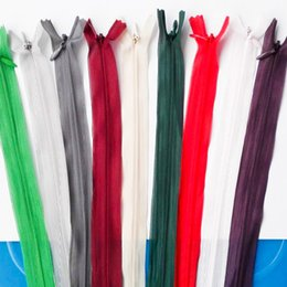 Wholesale Wholesale Use Shoes - Crafter's Special metal Zippers Lace Zipper Sewing apparel Coil Zippers Sewing Tools Can be used for Clothes Shoes Bag Pillow Bedding